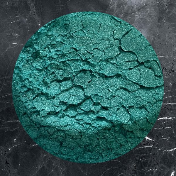 Mint green powder