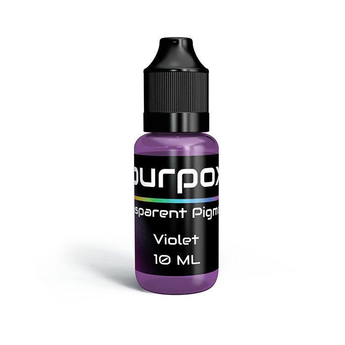 Violet transparant pigment